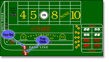 Taking free odds in Craps