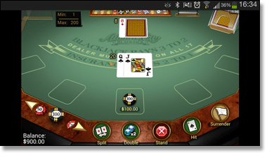 Play mobile blackjack through Web Apps