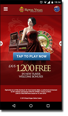 Royal Vegas online mobile casino