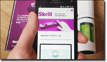 Skrill 1-Tap mobile casino deposits