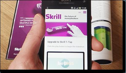 Skrill 1-Tap mobile casino deposits