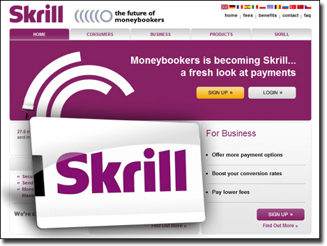 Deposit casino cash using Skrill