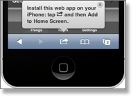 iPhone Web app