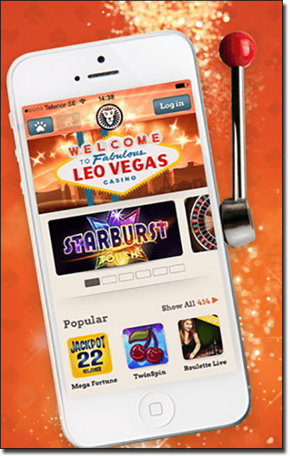 Play Leo Vegas Casino on mobile or tablet