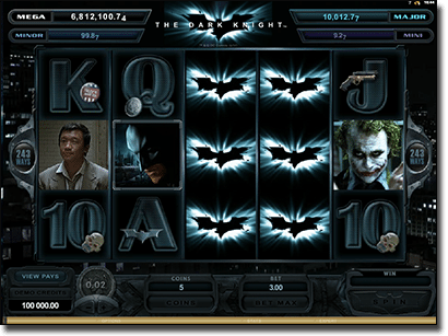 The Dark Knight progressive jackpot pokies
