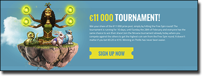 Sign up to Thrills online casino