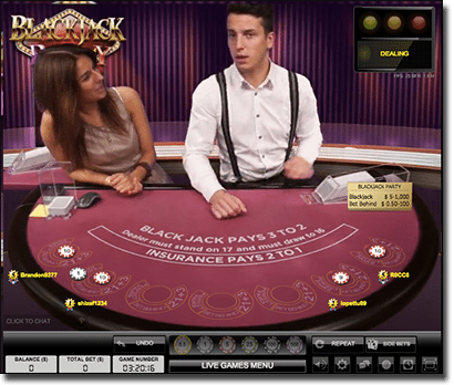 Evolution Gaming live dealer blackjack