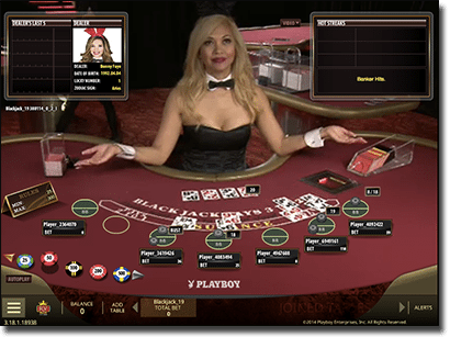 Microgaming Playboy Bunny live dealer blackjack online