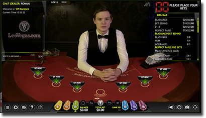 Extreme Gaming live dealer blackjack online