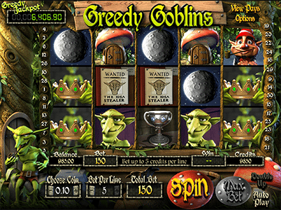 Greedy Goblins progressive jackpot pokies by BetSoft