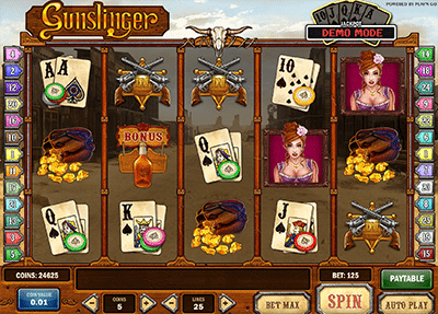 Gunslinger progressive jackpot pokies by Play'n Go