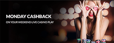 Guts Casino live dealer cashback