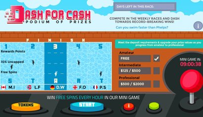 Dash for Cash - Royal Vegas Casino 2016 Olympics promotion