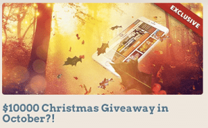 Leo Vegas online casino $10k giveaway Christmas in October