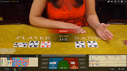 Baccarat Live by Evolution Gaming