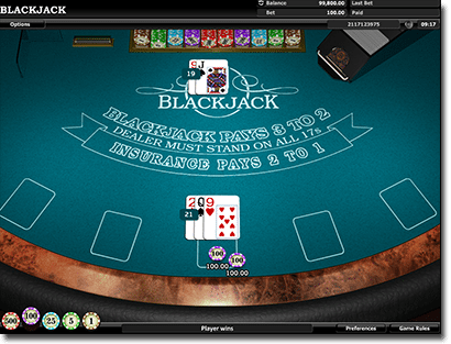 Blackjack at Leo Vegas Casino