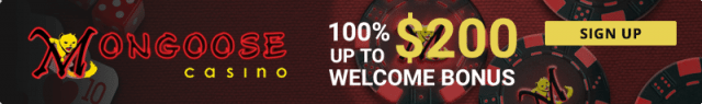 Mongoose Casino sign up promo code bonus