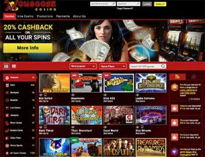 Mongoose Casino online slots and table games catalogue