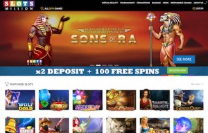 Slots Million casino game lobby