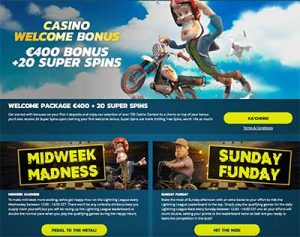 Thrills Casino player promos and bonuses