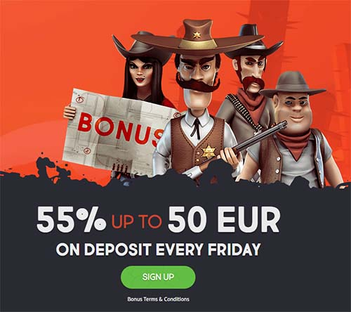 GunsBet online casino Friday bonus