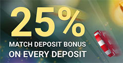 25% bonus on every deposit